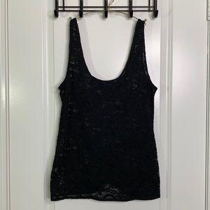 *Aritzia Talula Medium Black Lace Tank Top Shirt